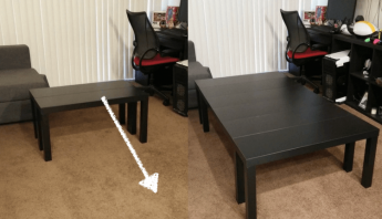 Board Game Table made from TV units. And it's extendable!