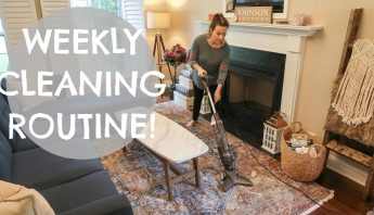 CLEAN MY ENTIRE HOUSE WITH ME! 💙WEEKLY CLEANING ROUTINE MOTIVATION | Hayley Paige