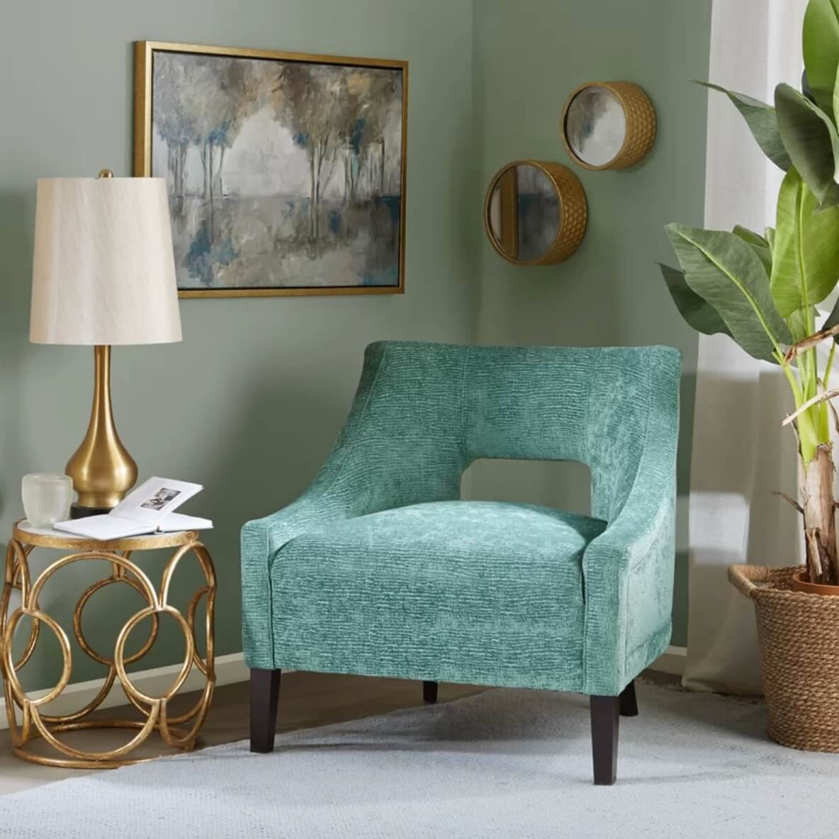 Slate Couch And Blue Accent Chair In Living Room: Color Knockout: 20 Accent Chairs That Will Rock Your World