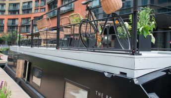 Is this the most stylish canal boat you've ever seen? AND you can stay in it!