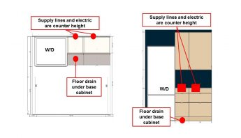 Hackers Help: Help with floating laundry station out of kitchen cabinets