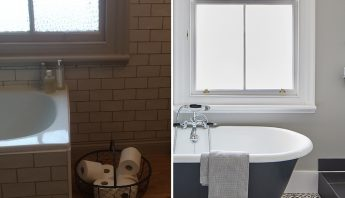 Before and after: separating the bath and shower creates a luxury bathroom