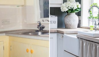 Before and after: a dated kitchen is now bursting with country character