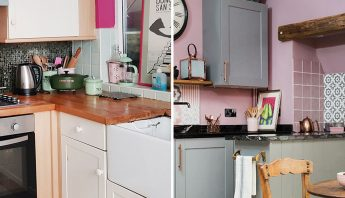 Before and after – switching the kitchen and dining room made all the difference